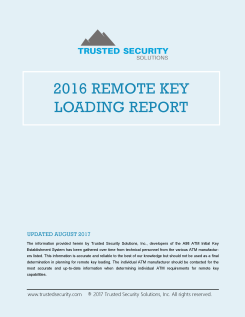 2016 Remote Key Loading Report